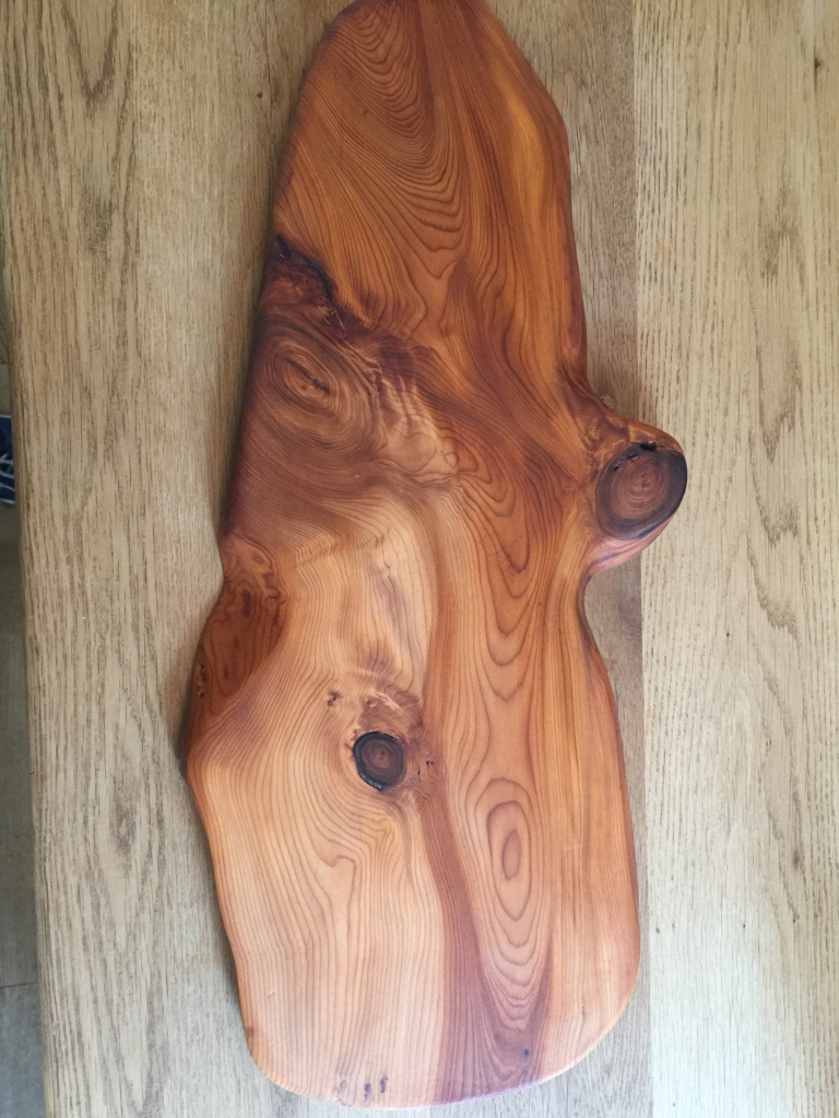 People often say they just like wood. Who wouldn't like this pieceof local English yew
