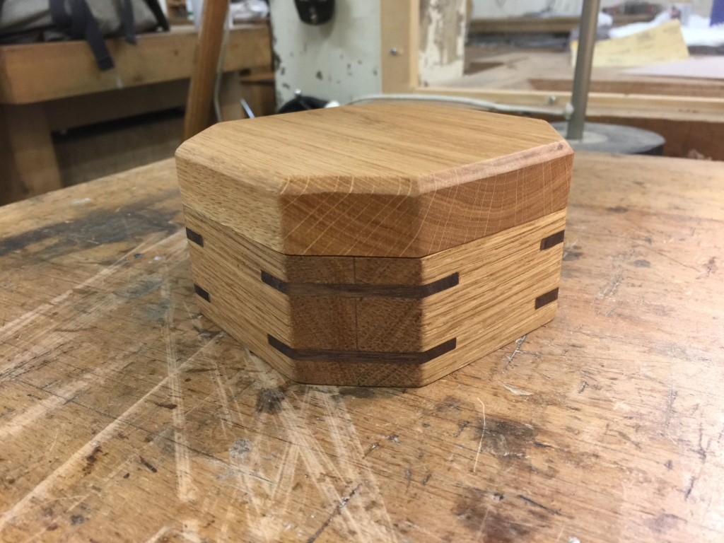 This small oak bracelet box with walnut splines is proving to be a very popular gift